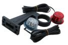 Slingrelygte 90° 24V LED rød/hvid H/V - 5000mm kabel. Gylle nr 30790