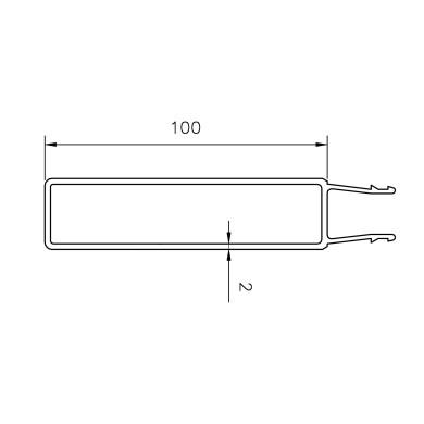 Underprofil 100 mm / 2,5 m - B102225