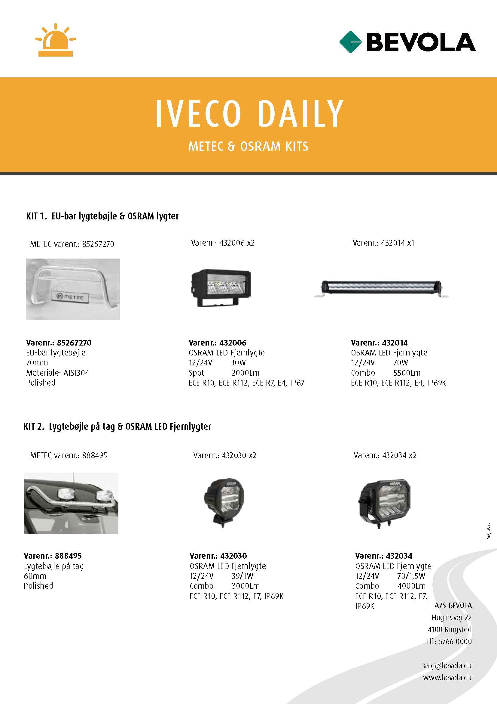 METEC + OSRAM KITS IVECO DAILY