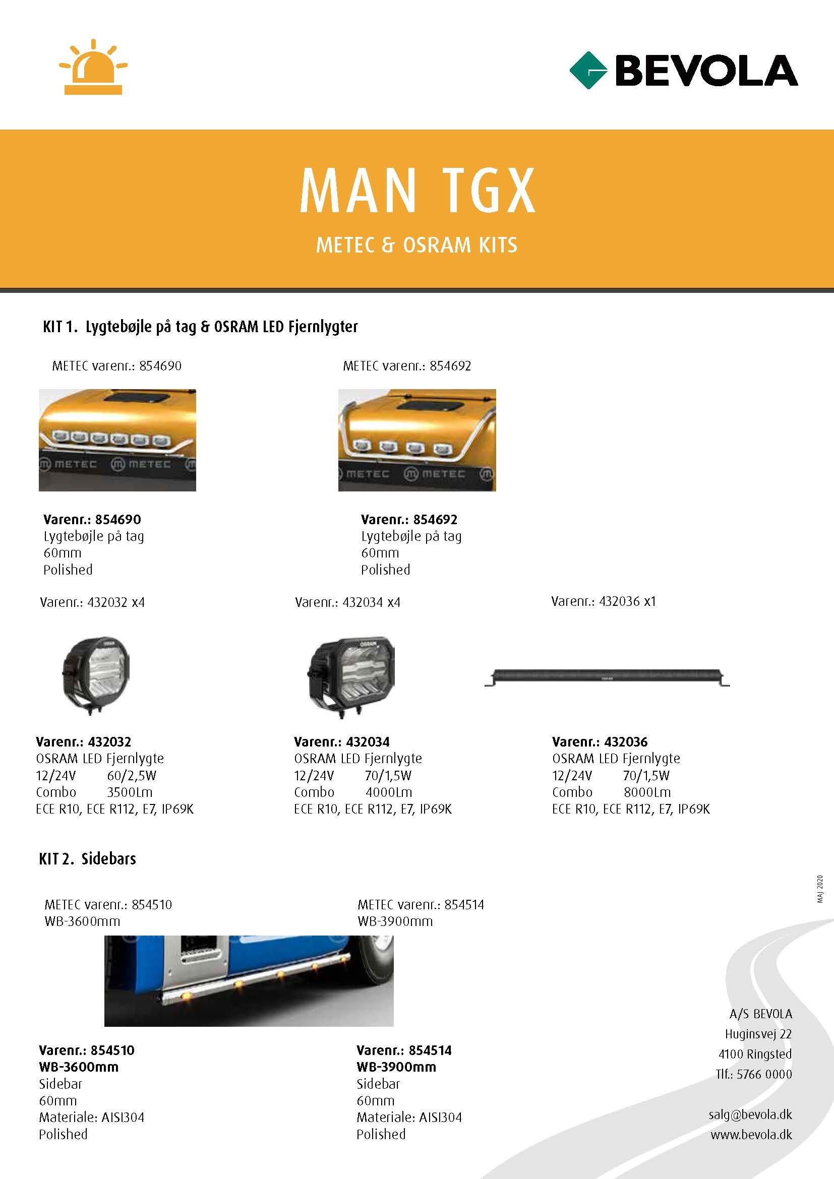 METEC + OSRAM KITS MAN-TGX