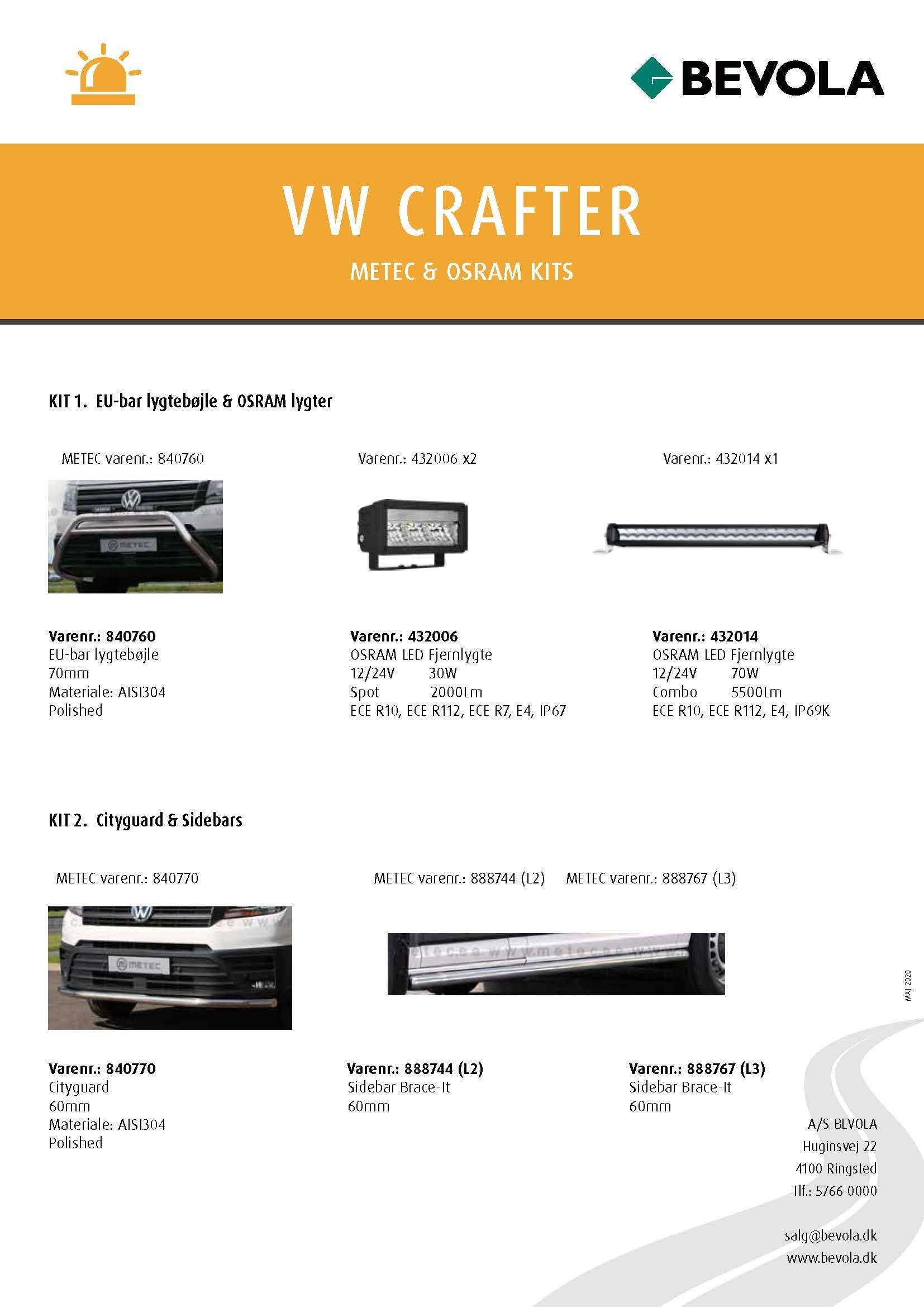 METEC + OSRAM KITS VW-CRAFTER